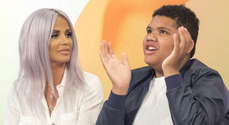 Katie Price and Harvey/WENN Photos/ITV