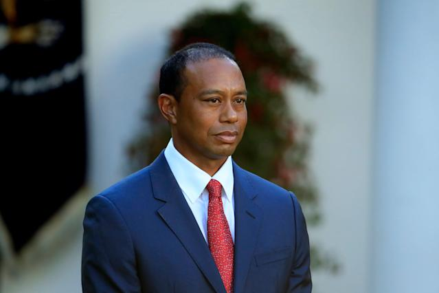Tiger Woods and his girlfriend have been named in a wrongful death suit, and are now being accused of destroying evidence. (AP Photo/Manuel Balce Ceneta)