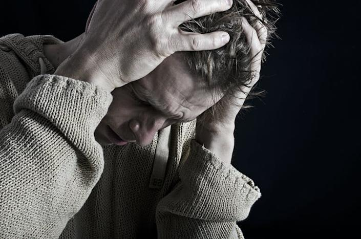 """<span class=""""caption"""">Sufferers may also experience mental health problems.</span> <span class=""""attribution""""><a class=""""link rapid-noclick-resp"""" href=""""https://www.shutterstock.com/image-photo/depression-140446075"""" rel=""""nofollow noopener"""" target=""""_blank"""" data-ylk=""""slk:Twin Design/ Shutterstock"""">Twin Design/ Shutterstock</a></span>"""