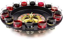 <p>Play a round of <span>Shot Glass Roulette (2 Balls and 16 Glasses)</span> ($15).</p>