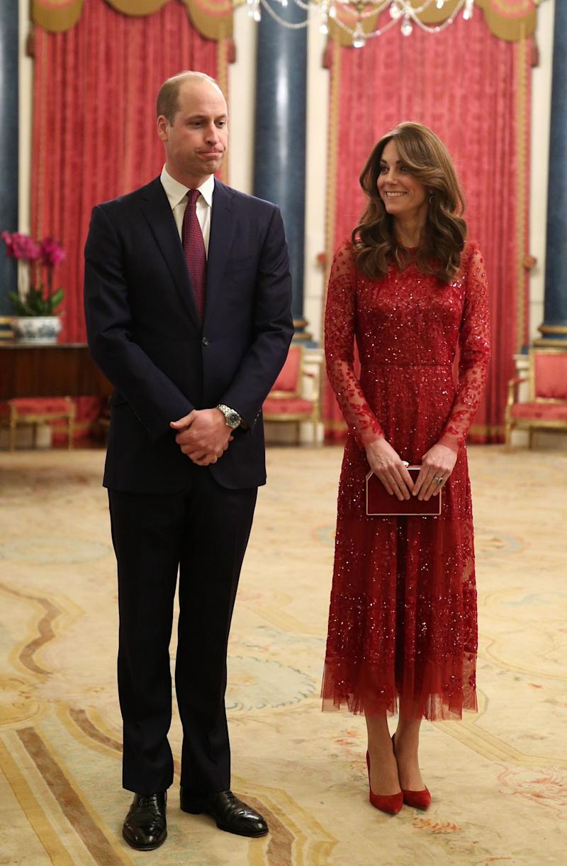 The Duke and Duchess of Cambridge host a reception for heads of state and government at Buckingham Palace in London on Jan. 20, following the U.K.-Africa Investment Summit. (Photo: YUI MOK via Getty Images)