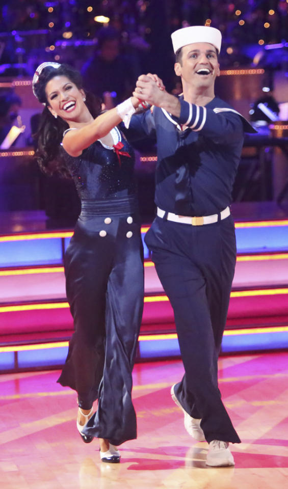 "Melissa Rycroft and Tony Dovolani perform on ""Dancing With the Stars: All-Stars."""