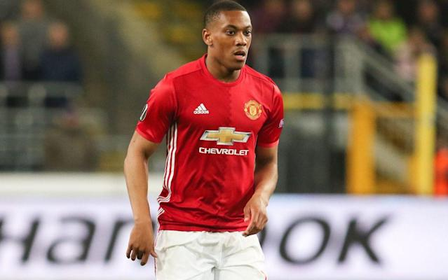 Anthony Martial has come in for more criticism from Manchester United manager Jose Mourinho - Rex Features