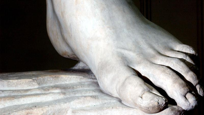 The left foot of Michelangelo's David, restored in 2004 and not, as of this writing, uploaded to wikiFeet