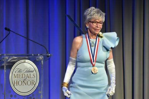 Actress, singer, dancer Rita Moreno is awarded during the 33rd Annual Ellis Island Medals of Honor in New York