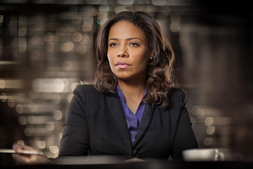 "Sanaa Lathan as Mona Fredricks in season 2 of ""Boss."""