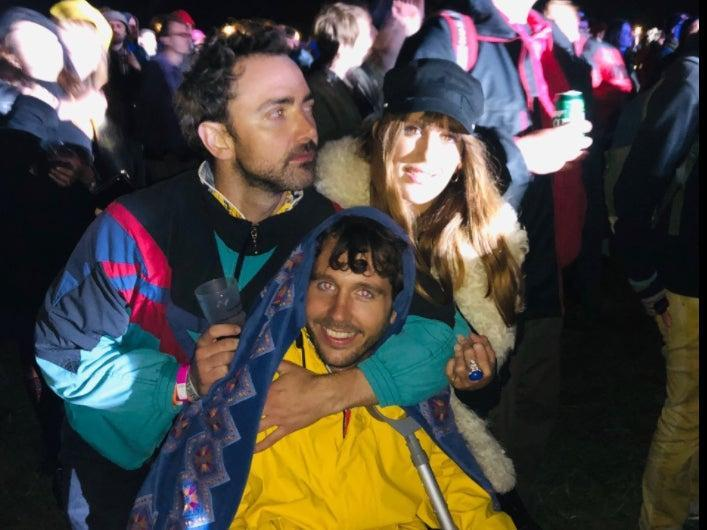 Head of Culture Patrick Smith with friends at End of the Road festival in 2019 (Hannah Ellis-Peterson)