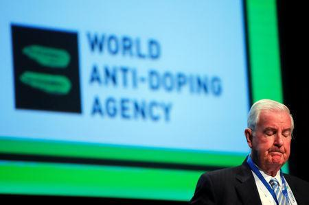 FILE PHOTO: Craig Reedie, President of the World Anti Doping Agency (WADA) attends the WADA Symposium in Ecublens, near Lausanne, Switzerland, March 21, 2018. REUTERS/Denis Balibouse/File Photo