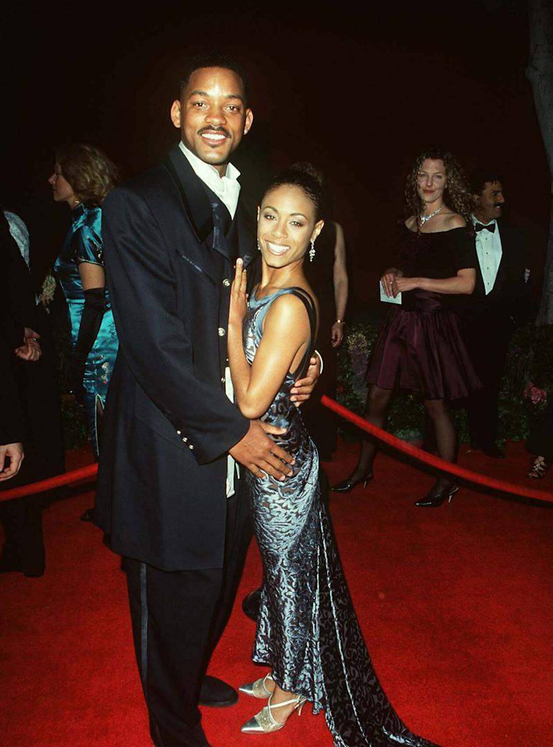 Will Smith and Jada Pinkett smith at the Oscars in 1996. (Photo: Steve Granitz via Getty Images)