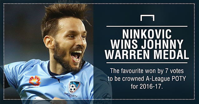 GFX Milos Ninkovic Johnny Warren Medal