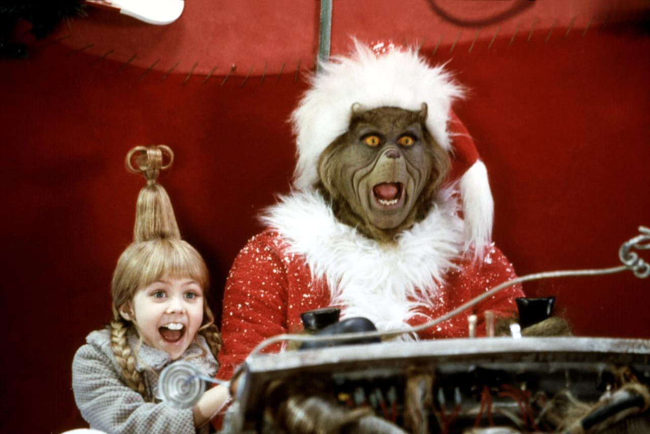 """<p><strong>How the Grinch Stole Christmas</strong> is a heartwarming holiday classic that has a kick of comedic flair to it. <a class=""""sugar-inline-link ga-track"""" title=""""Latest photos and news for Jim Carrey"""" href=""""https://www.popsugar.com/Jim-Carrey"""" target=""""_blank"""" data-ga-category=""""Related"""" data-ga-label=""""https://www.popsugar.com/Jim-Carrey"""" data-ga-action=""""&lt;-related-&gt; Links"""">Jim Carrey</a> stars in the titular green monster role, with <a class=""""sugar-inline-link ga-track"""" title=""""Latest photos and news for Anthony Hopkins"""" href=""""https://www.popsugar.com/latest/Anthony-Hopkins"""" target=""""_blank"""" data-ga-category=""""Related"""" data-ga-label=""""https://www.popsugar.com/latest/Anthony-Hopkins"""" data-ga-action=""""&lt;-related-&gt; Links"""">Anthony Hopkins</a> narrating the story. If you're wondering how the slim Dr. Seuss book turned into a full-length feature film, here's your chance! Maybe your heart too will grow three sizes after watching it.</p> <p><a href=""""http://www.netflix.com/title/60000901"""" target=""""_blank"""" class=""""ga-track"""" data-ga-category=""""Related"""" data-ga-label=""""http://www.netflix.com/title/60000901"""" data-ga-action=""""In-Line Links"""">Watch <b>How the Grinch Stole Christmas</b> on Netflix</a>.</p>"""