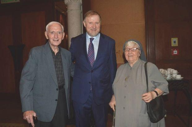 (From left) Felix, Ireland's Ambassador to Malaysia Eamon Hickey and Enda during happier times. — Malay Mail pic