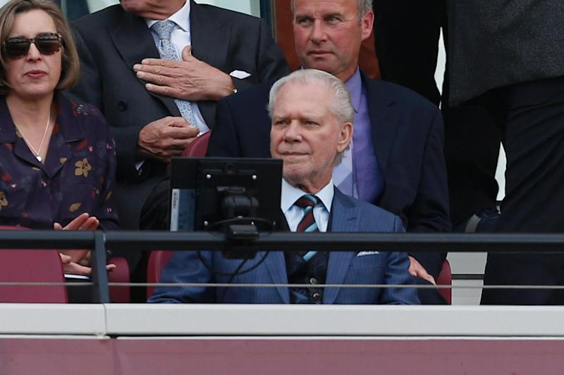 Decision time | David Gold, along with David Sullivan and Karren Brady, must decide whether to keep Moyes on or not (AFP/Getty Images)