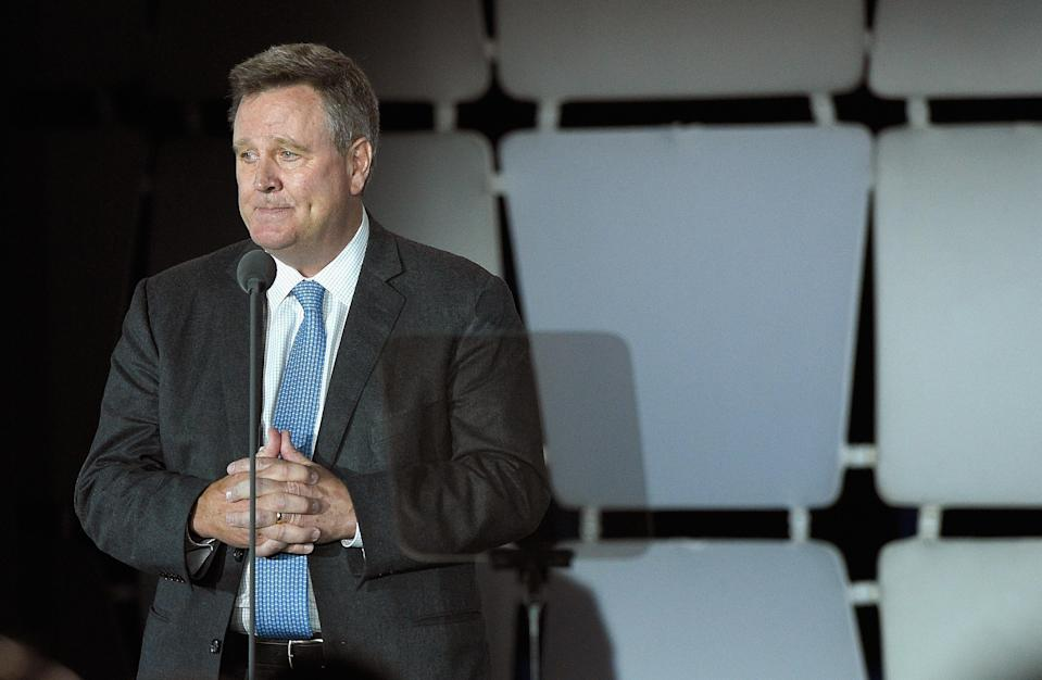 Scott Blackmun, former chief executive officer of the United States Olympic Committee, knew of Larry Nassar's abuse for over a year, according to a USOC report. (Getty)