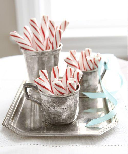 """<p>Play up the vintage appeal of old-fashioned peppermint sticks with antique silver. The tarnished finish only adds to the look, so go ahead and skip the polish. </p><p><a class=""""link rapid-noclick-resp"""" href=""""https://www.amazon.com/King-Soft-Pure-Peppermint-Sticks/dp/B000YHK5VS/?tag=syn-yahoo-20&ascsubtag=%5Bartid%7C10055.g.2196%5Bsrc%7Cyahoo-us"""" rel=""""nofollow noopener"""" target=""""_blank"""" data-ylk=""""slk:SHOP PEPPERMINT STICKS"""">SHOP PEPPERMINT STICKS</a><br></p>"""