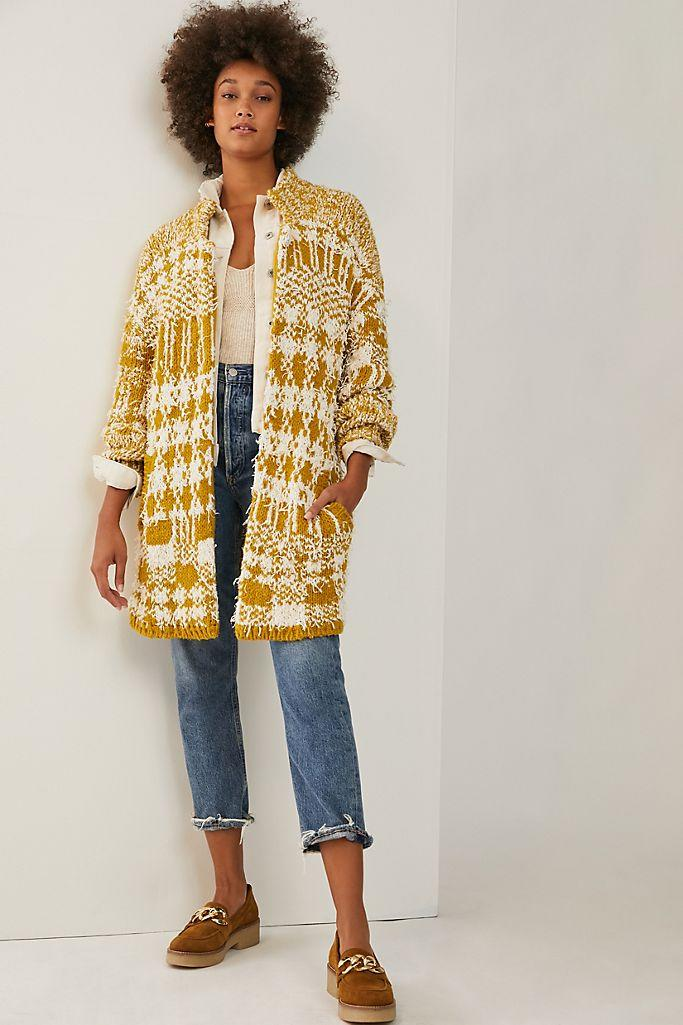 """<h2>Shaina Sweater Coat<br></h2><br>This super-cuddly """"coatigan"""" — available in petite, standard, and plus sizes — boasts a comfy cotton-based yarn speckled with eyelash tendrils for a lived-in, professorial look. <br><br><strong>Anthropologie</strong> Shaina Sweater Coat, $, available at <a href=""""https://go.skimresources.com/?id=30283X879131&url=https%3A%2F%2Fwww.anthropologie.com%2Fshop%2Fshaina-sweater-coat%3Fcategory%3Dtops-sweaters%26color%3D035%26type%3DPLUS%26quantity%3D1"""" rel=""""nofollow noopener"""" target=""""_blank"""" data-ylk=""""slk:Anthropologie"""" class=""""link rapid-noclick-resp"""">Anthropologie</a>"""