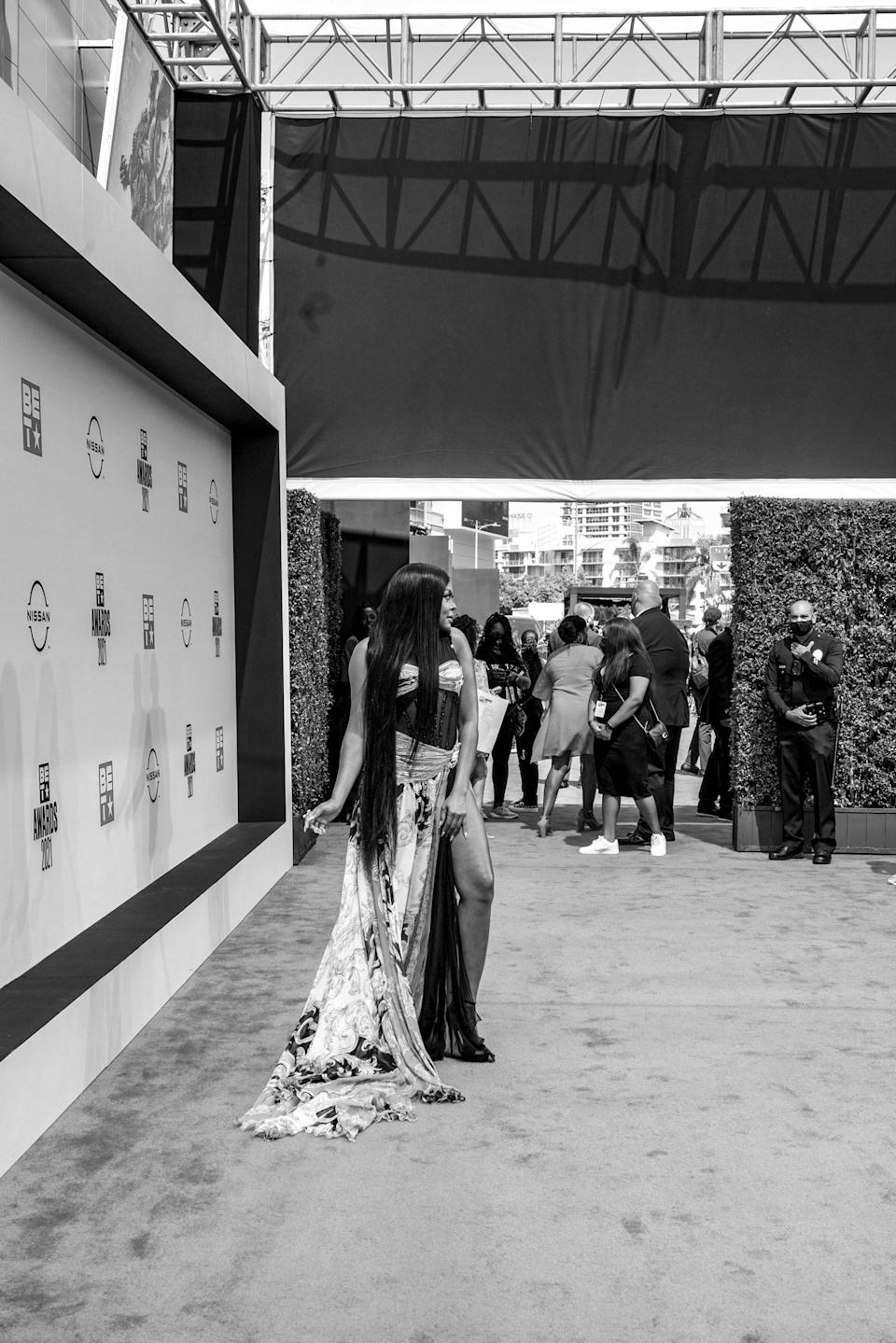 On the red carpet.