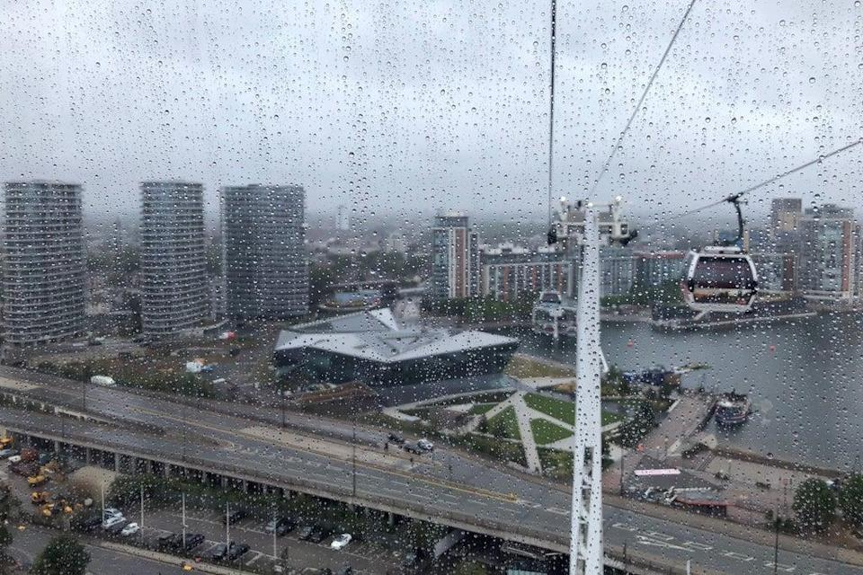 Crystal clear: The Crystal in the Royal Docks, pictured from the Emirates cable car across the Thames (Ross Lydall)