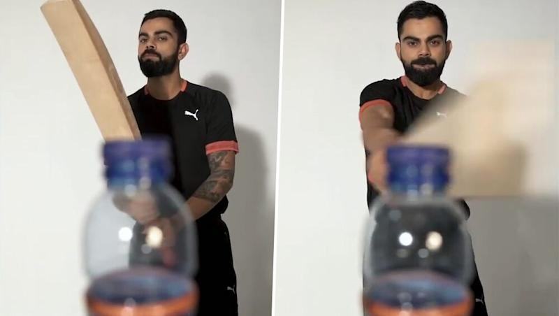 Virat Kohli Takes The Bottle Cap Challenge, Says 'Better Late Than Never'! Watch Indian Skipper's Video on Instagram