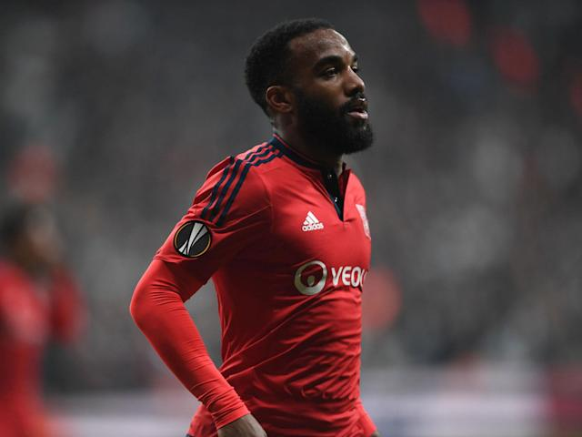 Alexandre Lacazette has put Arsenal on notice that he will not join a club outside the Champions League: Getty