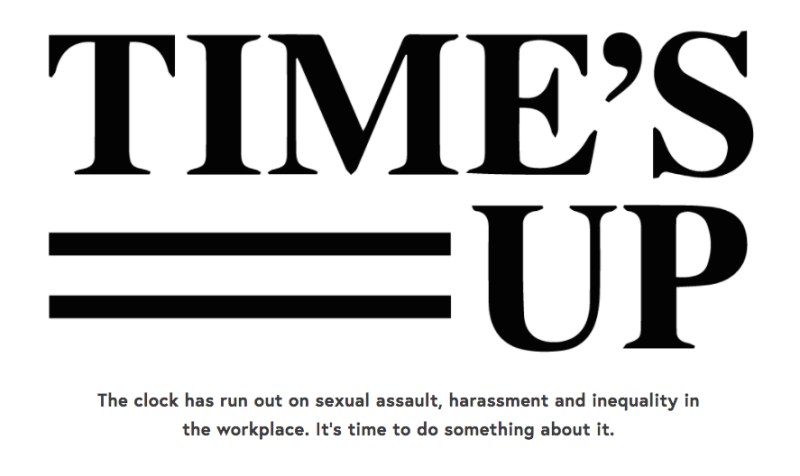 A bunch of amazing and powerful ladies in Hollywood are taking a huge stand against sexual harassment