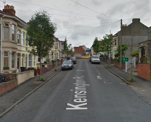 The incident happened close to Kensington Road in Bristol. (GOOGLE)
