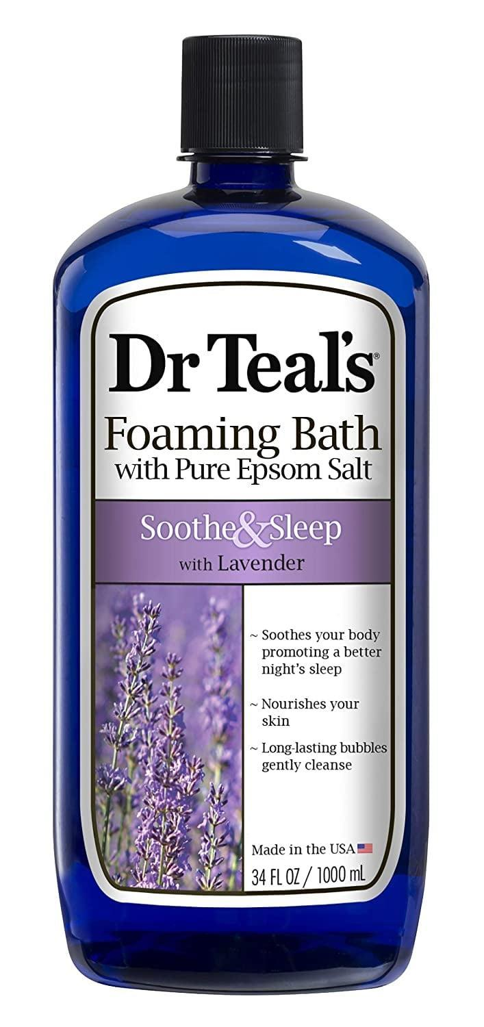 <p>If you love the scent of lavender, you can't go wrong with <span>Dr Teal's Foaming Bath with Pure Epsom Salt, Soothe &amp; Sleep</span> ($5). It's the best way to wind down and get ready for bed.</p>