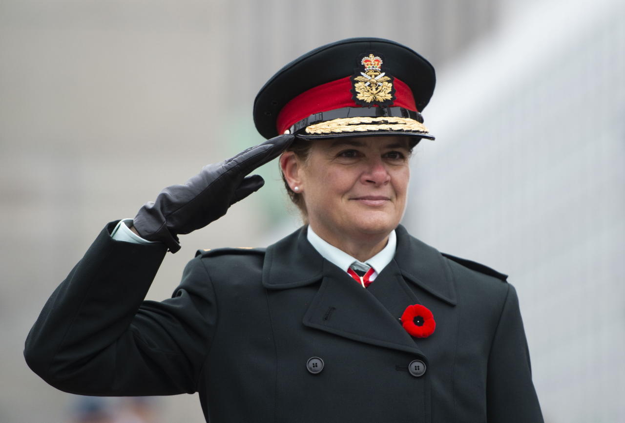 Governor General Julie Payette takes part in the Remembrance Day ceremony at the National War Memorial in Ottawa on Monday Nov. 11, 2019. THE CANADIAN PRESS/Sean Kilpatrick