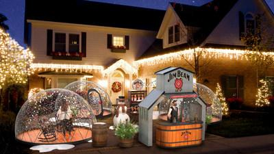 """Jim Beam is bringing Kentucky hospitality and holiday spirit to one lucky fan's home with its one-of-a-kind """"Beam Snow Globe"""" experience."""