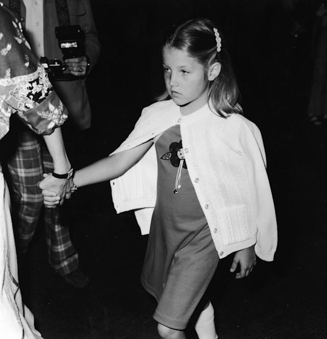 <p>When Elvis died unexpectedly in 1977, the world sort of adopted his look-alike mini-me, pictured here the year he passed away. (Photo: Getty Images) </p>