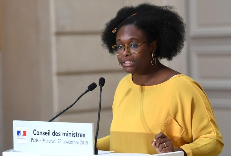 French Government Spokesperson NDiaye attends news conference after weekly cabinet meeting in Paris