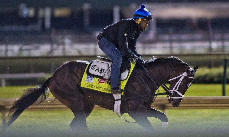 At 5/1, Always Dreaming is the co-second favorite for the Kentucky Derby. (Getty)