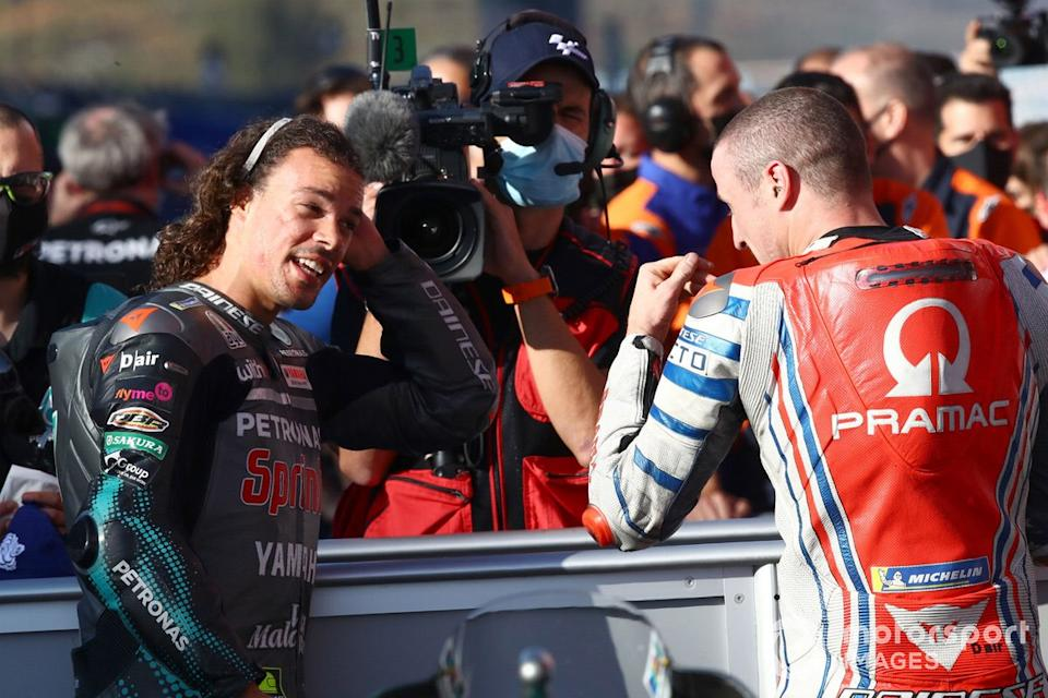 "Franco Morbidelli, Petronas Yamaha SRT, Jack Miller, Pramac Racing<span class=""copyright"">Gold and Goose / Motorsport Images</span>"