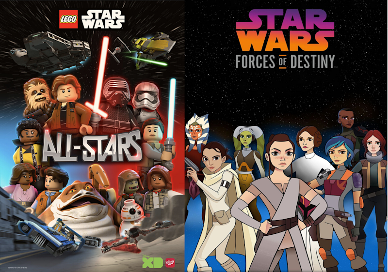 Star Wars kids' series available on Disney+. Images via IMDB.