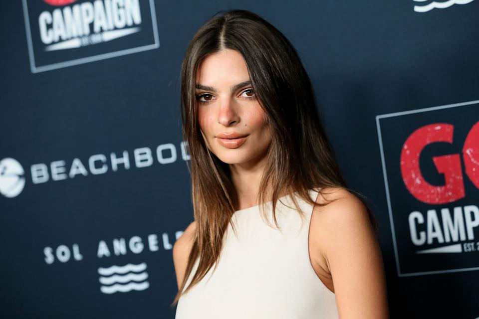 LOS ANGELES, CALIFORNIA - NOVEMBER 16: Emily Ratajkowski attends the Go Campaign's 13th Annual Go Gala at NeueHouse Hollywood on November 16, 2019 in Los Angeles, California. (Photo by David Livingston/Getty Images)