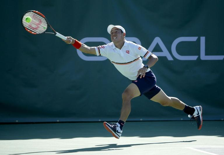 Kei Nishikori of Japan had been chasing a first ATP Tour victory after returning from a five-month injury layoff before being downed 6-1, 3-6, 7-6 (7/4) by South Africa's Kevin Anderson at the New York Open Club