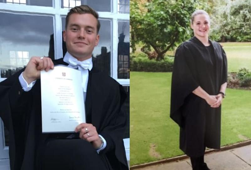 For use in UK, Ireland or Benelux countries only Undated handout file photo issued by Metropolitan Police of a composed image of (left) Jack Merritt, 25, of Cottenham, Cambridgeshire and (right) Saskia Jones, 23, of Stratford-upon-Avon, Warwickshire, both formally identified by the Metropolitan Police as the two victims who died following the terrorist attack near to London Bridge on Friday. Inquests into the deaths of London Bridge terror attack victims will be opened at the Old Bailey.