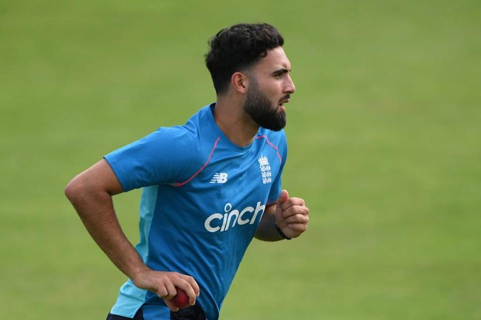 Saqib Mahmood is the favourite to replace Mark Wood for England  (Getty Images)