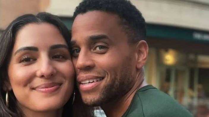 Actor Michael Ealy (right) wrote a touching tribute to wife Khatira Rafiqzada (left) as violence rages on in her native Kabul, Afghanistan. (Instagram)