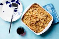 "There are many variation of potato pudding: Some use grated raw potatoes, others mashed cooked potatoes. Some add <em>russel</em> (fermented grated beets), sautéed mushrooms, or chopped liver; others add sugar and ground almonds to make a dessert. And <em>potatonik</em> is a combination of yeast bread and potato kugel. The following version has a crisp crust and a moist, soft interior. The recipe can be doubled and baked in a 13-by-9-inch baking dish. <a href=""https://www.epicurious.com/recipes/food/views/kartoffel-kugel-ashkenazic-potato-pudding?mbid=synd_yahoo_rss"" rel=""nofollow noopener"" target=""_blank"" data-ylk=""slk:See recipe."" class=""link rapid-noclick-resp"">See recipe.</a>"