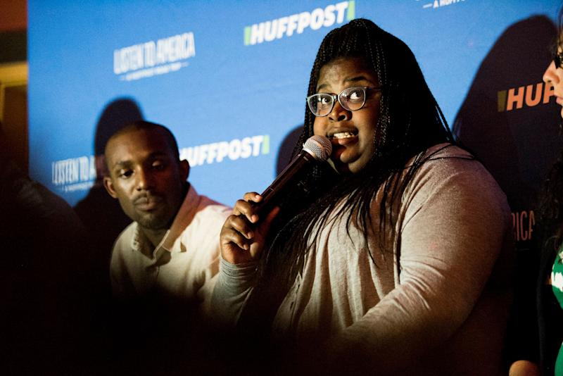 St. Louis organizer and activist Kayla Reed talks about the aftermath of the fatal police shooting of Michael Brown in Ferguson, Missouri.