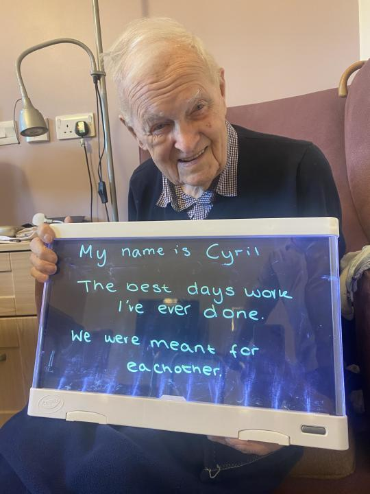 Cyril Banks, 96, shares his relationship advice. (Care UK/ PA)