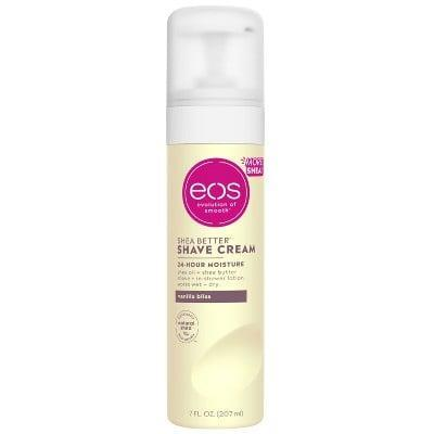 <p>The <span>Eos Shea Better Shave Cream</span> ($4) won't foam up when applied, but even the thinnest layer of its shea butter-rich formula will leave your skin feeling incredibly smooth and hydrated for up to a full day.</p>