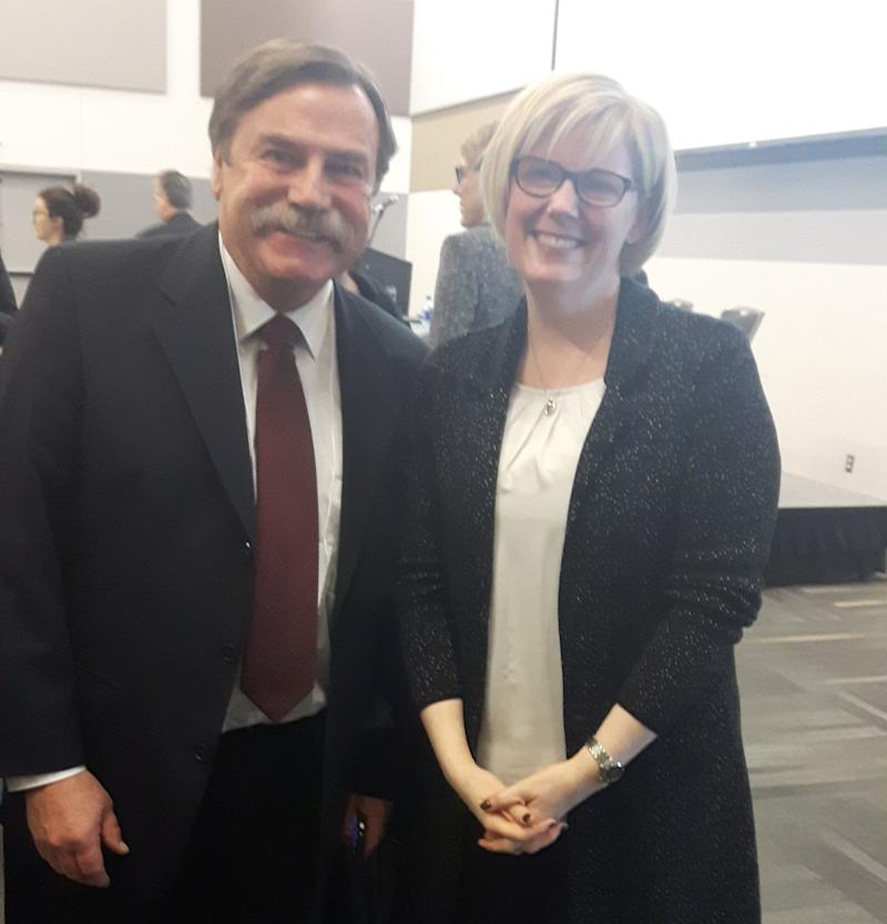 Independent Living Canada national executive director Patrick Curran poses in this undated photo with Carla Qualtrough. (Photo: Patrick Curran)