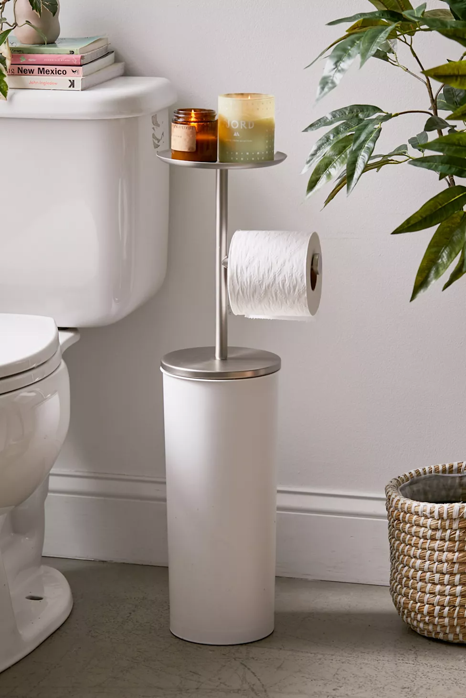 "<h3><a href=""https://www.urbanoutfitters.com/shop/jonah-toilet-paper-storage-stand"" rel=""nofollow noopener"" target=""_blank"" data-ylk=""slk:Jonah Toilet Paper Storage Stand"" class=""link rapid-noclick-resp"">Jonah Toilet Paper Storage Stand</a></h3><br><strong>When you don't have a laundry room to stash all those extra TP rolls in</strong>: This slim unit was designed to hold extra rolls of your toilet-paper stock AND slide neatly into that tight space next to your golden throne.<br><br><strong>Urban Outfitters</strong> Jonah Toilet Paper Storage Stand, $, available at <a href=""https://go.skimresources.com/?id=30283X879131&url=https%3A%2F%2Fwww.urbanoutfitters.com%2Fshop%2Fjonah-toilet-paper-storage-stand"" rel=""nofollow noopener"" target=""_blank"" data-ylk=""slk:Urban Outfitters"" class=""link rapid-noclick-resp"">Urban Outfitters</a>"