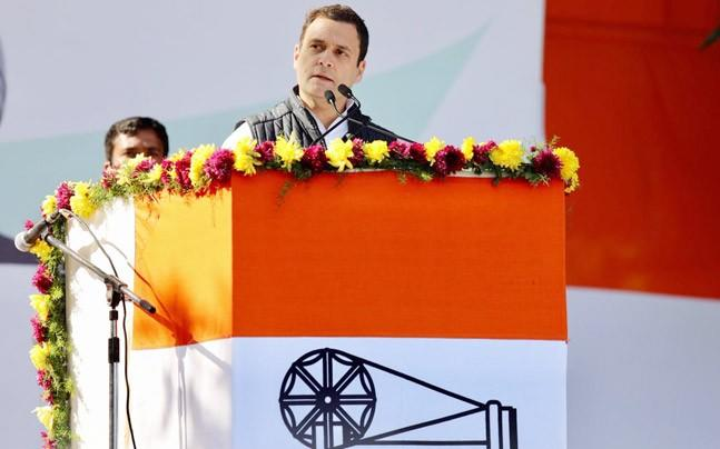 <p>While the Congress took India to the 21st century, Narendra Modi was  taking her back to medieval times, the Congress president Rahul Gandhi said. </p>