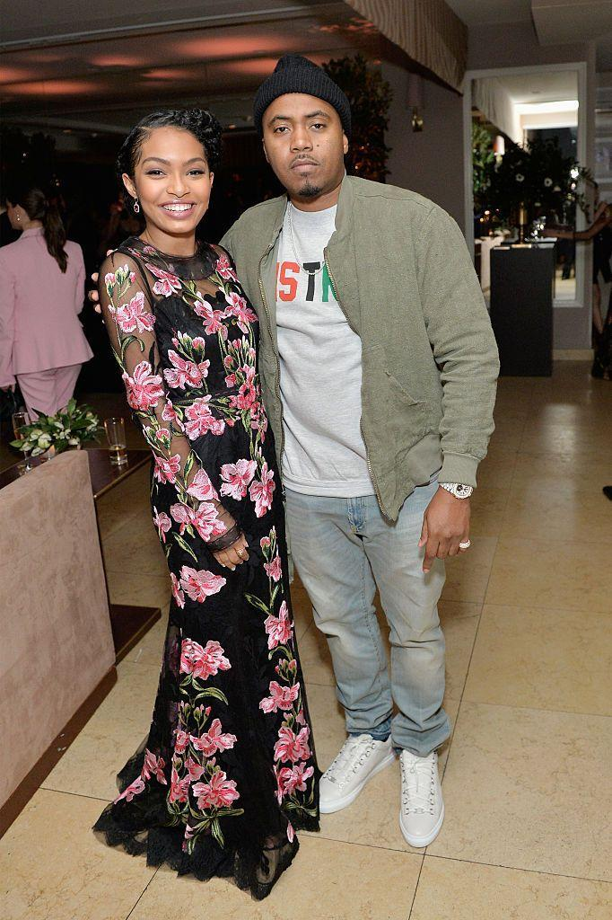 <p>Yep, Yara Shahidi is the younger cousin of rapper Nas. She was even the little flower girl in his wedding when he married Kelis.</p>