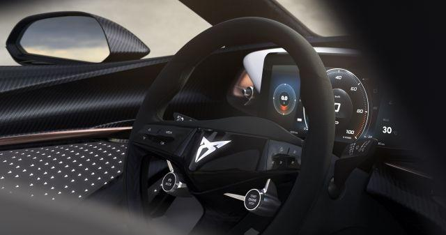 Cupra teases interior of its first all-electric car