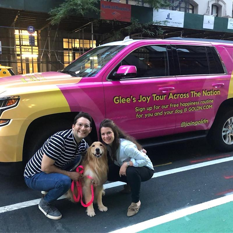 Glee the Golden Retriever is On a Mission To 'Bring Joy' Across the U.S. with Multi-City Tour