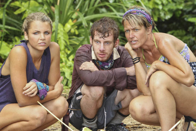 """Kill or be Killed"" - Andrea Boehlke, John Cochran and Dawn Meehan of the Bikal Tribe during the fourth episode of ""Survivor: Caramoan - Fans vs. Favorites."""